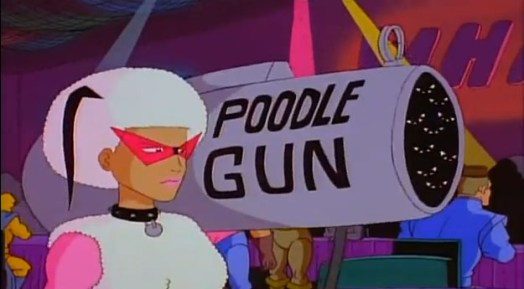 Poodle Gun from The Tick cartoon