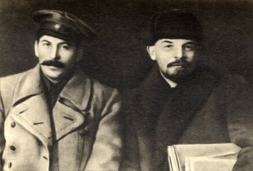 Joseph Stalin and Vladimir Lenin, 1919
