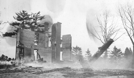 burned out farmhouse
