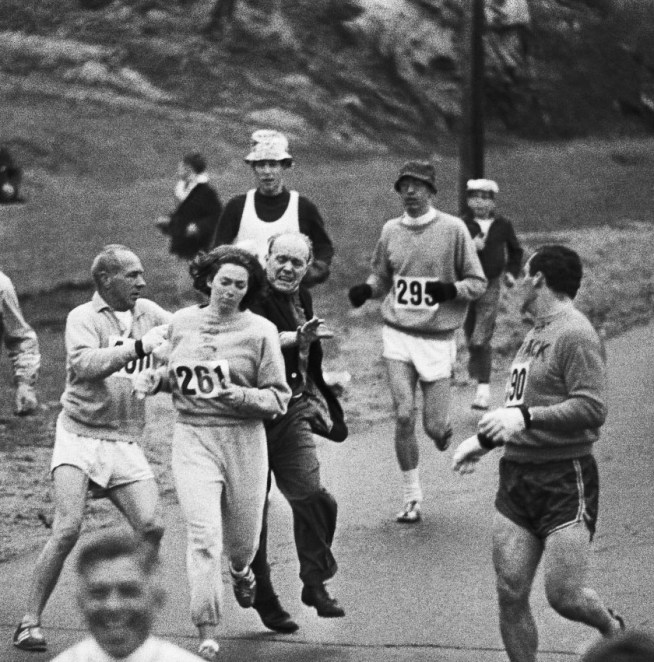 Kathrine Switzer in the Boston Marathon