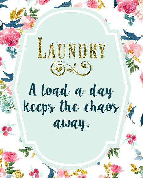 Check out this adorable free printable for your laundry room! cautiouslyoptimistickitchen.com