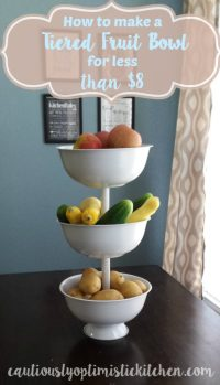 tiered fruit bowl