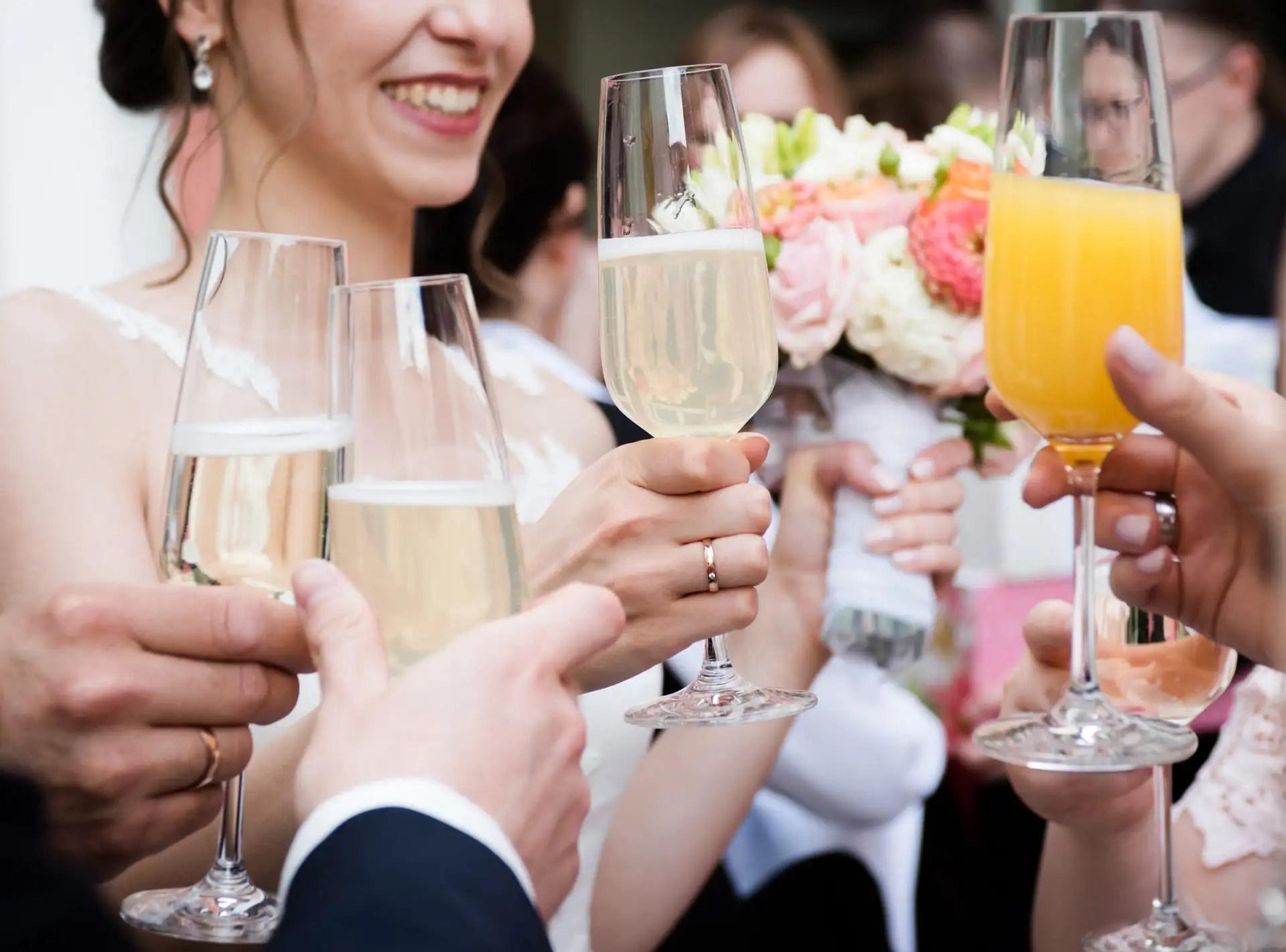 Sekt für Hochzeit