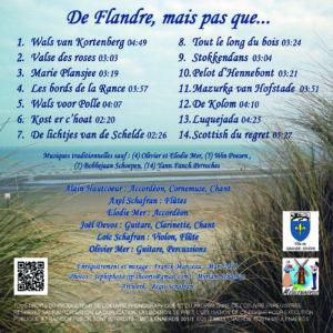 Discographie - Album CD - De Flandre, mais pas que... Pochette Verso
