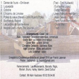 Discographie - Album CD - Caval'Trad - Pochette Verso
