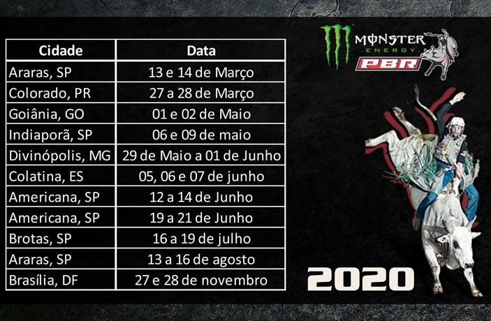 PBR Brazil divulga calendário para 2020