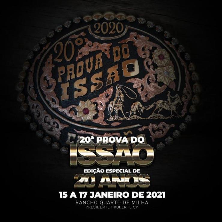 A edição comemorativa de 20 anos da Prova do Issao está marcada para 15 a 17 de  janeiro, no Rancho Quarto de Milha, em Presidente Prudente/SP