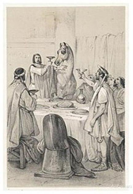 O terceiro imperador de Roma, conhecido como Calígula, nutria um amor profundo por seu cavalo preferido, chamado Incitatus (Impetuoso)