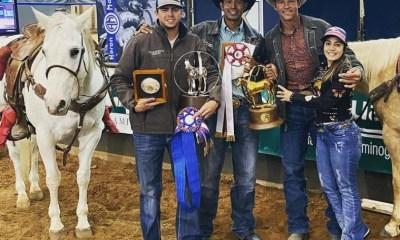Junior Nogueira foi campeão mundial AQHA Laço Cabeça e reservado no Pé; tem brasileiro brilhando também no BFA Futurity de Três Tambores
