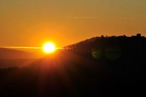 Západ slnka za Šarišským hradom