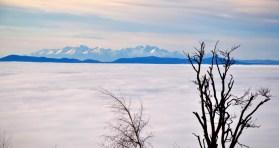 Vysoké Tatry nad inverziou
