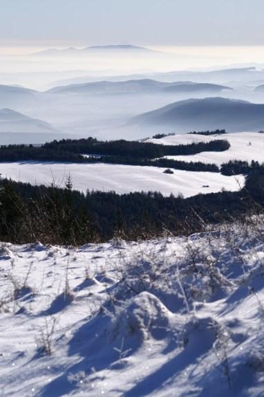 Výhľad z pohoria Bachureň pri Lipovciach