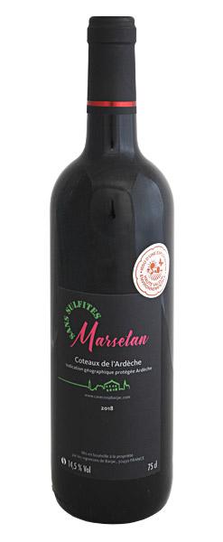IGP Coteaux d'Ardèche Marselan sans sulfites