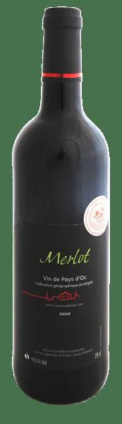 IGP Pays d'Oc Merlot bouteille