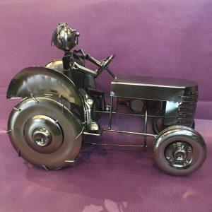CB tracteur rotated - Cache bouteille métal tracteur