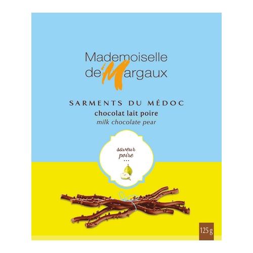 Sarments 125g poire 500x500 1 - Sarments du Médoc Mademoiselle de Margaux - Lait poire 125 gr