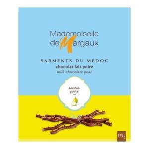 Sarments 125g poire 500x500 1 - Sarments du Médoc Mademoiselle de Margaux - Lait poire 125 gr - RUPTURE