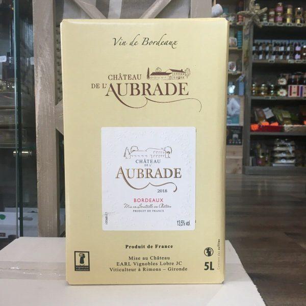 bib aubrade rouge rotated - BIB Ch. de l'Aubrade rouge - Bordeaux 5 L
