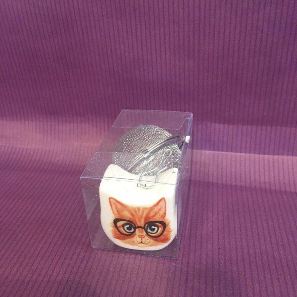 boule a te chat roux rotated - Boule à thé chat roux