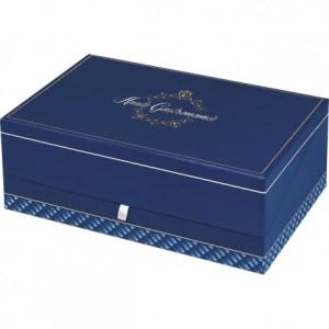 coffret rectangle haute gastronomie - Coffret carton bleu (31*18*10 cm)