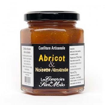 confiture abricot - Confiture abricot noisettes et amandes 220 gr
