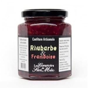 confiture rhubarbe - Confiture rhubarbe et framboise 220 gr