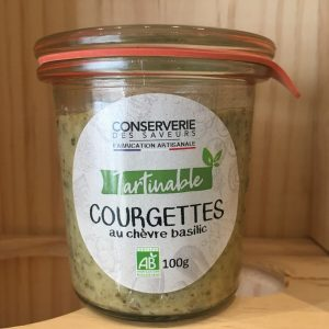 courgettes rotated - Courgettes au chèvre basilic - 100 gr BIO