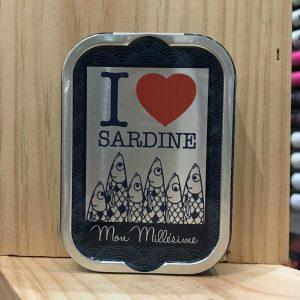 love sardines rotated - La Perle des Dieux - I love Sardine Mon Millésime 115 gr