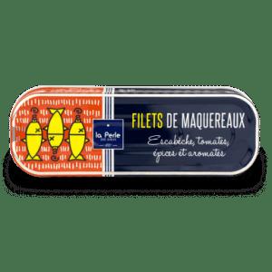 maquereaux escabeche - La Perle des Dieux - Filets de maquereaux escabèche 169 gr