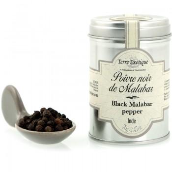 poivre malabar - Poivre noir de Malabar 70gr