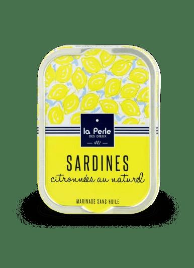 sardines naturel - La Perle des Dieux - Sardines citronnées au naturel 115 gr