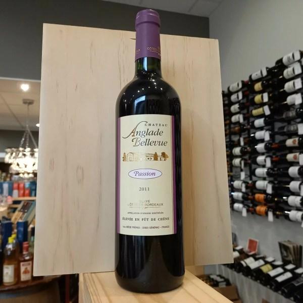 """anglade 2011 - Château Anglade Bellevue """"Passion"""" 2011 - Blaye Côtes de Bordeaux 75cl"""
