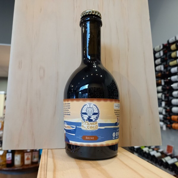 mousse brune - La Mousse des Sables 33cl - bière brune