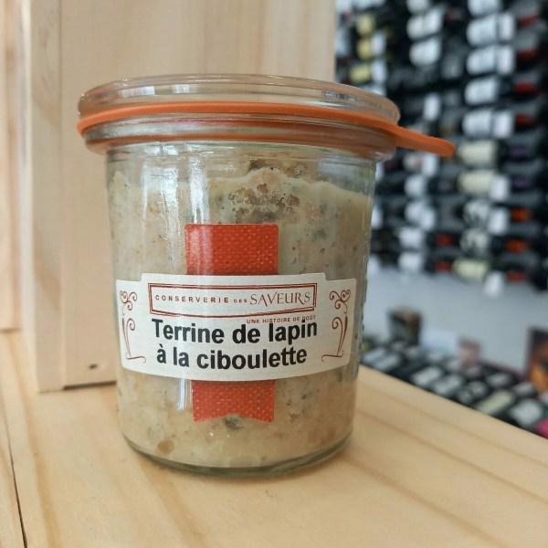 terrine lapin e1616154876703 - Terrine de lapin à la ciboulette 100 gr