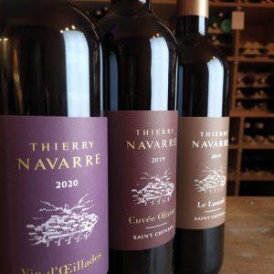 thierry navarre vin rouge oeillade saint-chinian languedoc vin rouge cave le petit grain rieumes