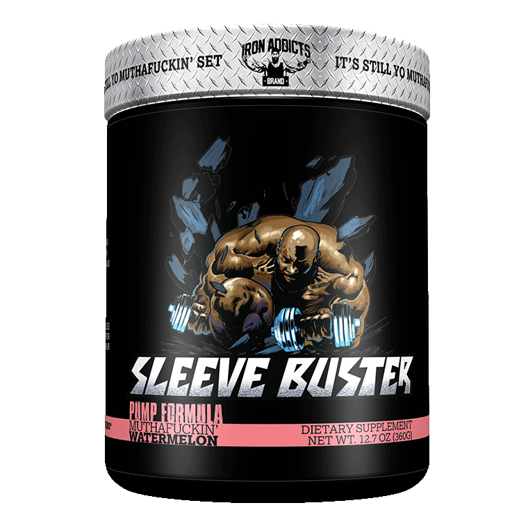 Iron Addicts - SLEEVE BUSTER - Non stim Pre-Workout