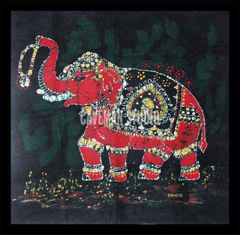 Elephant Batik Painting Online
