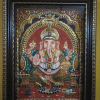 Lord Ganesh Tanjore Painting