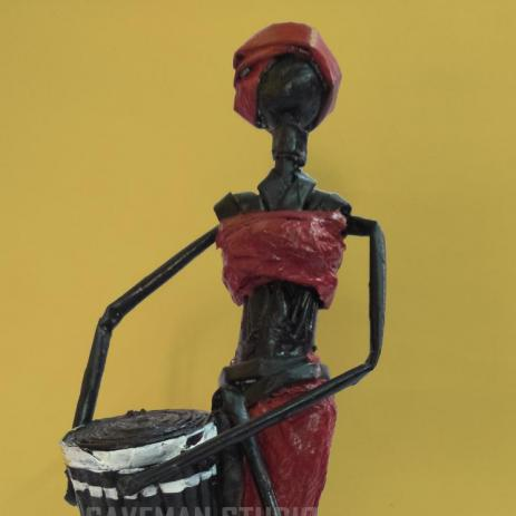 African Girl with drum