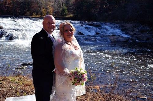 Far Winds Waterfall Wedding Ceremony location