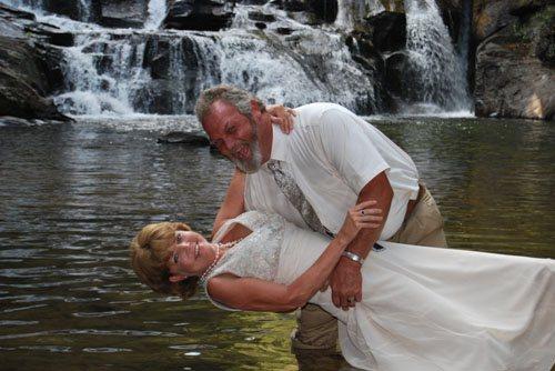 waterfall Weddings in North Georgia