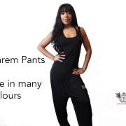 Plain Harem Pants Front 1
