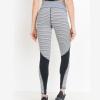 Monochrome-Tiramisu-Colorblock-Highwaist-Leggings