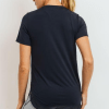 No-Sew Cool-Touch Mesh Panel Athleisure Shirt - Black Back