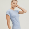 Mineral-Washed Perforated Back Seamless Raglan Shirt - Side
