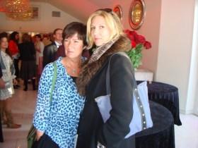 Mona Sahlin med vän