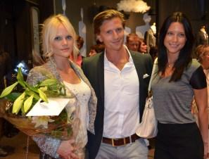 Madeleine Rahm, Johan Andersson och Stina Nylander