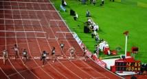 100 meter häck finish