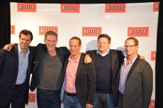 Sean Carey, Reed Hastings, Erik Barmack, Ted Sarandos & Jonathan Friedland