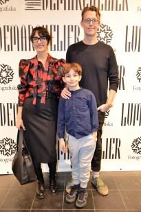Marina Kereklidou, Mikael Elmebeck och sonen Frans